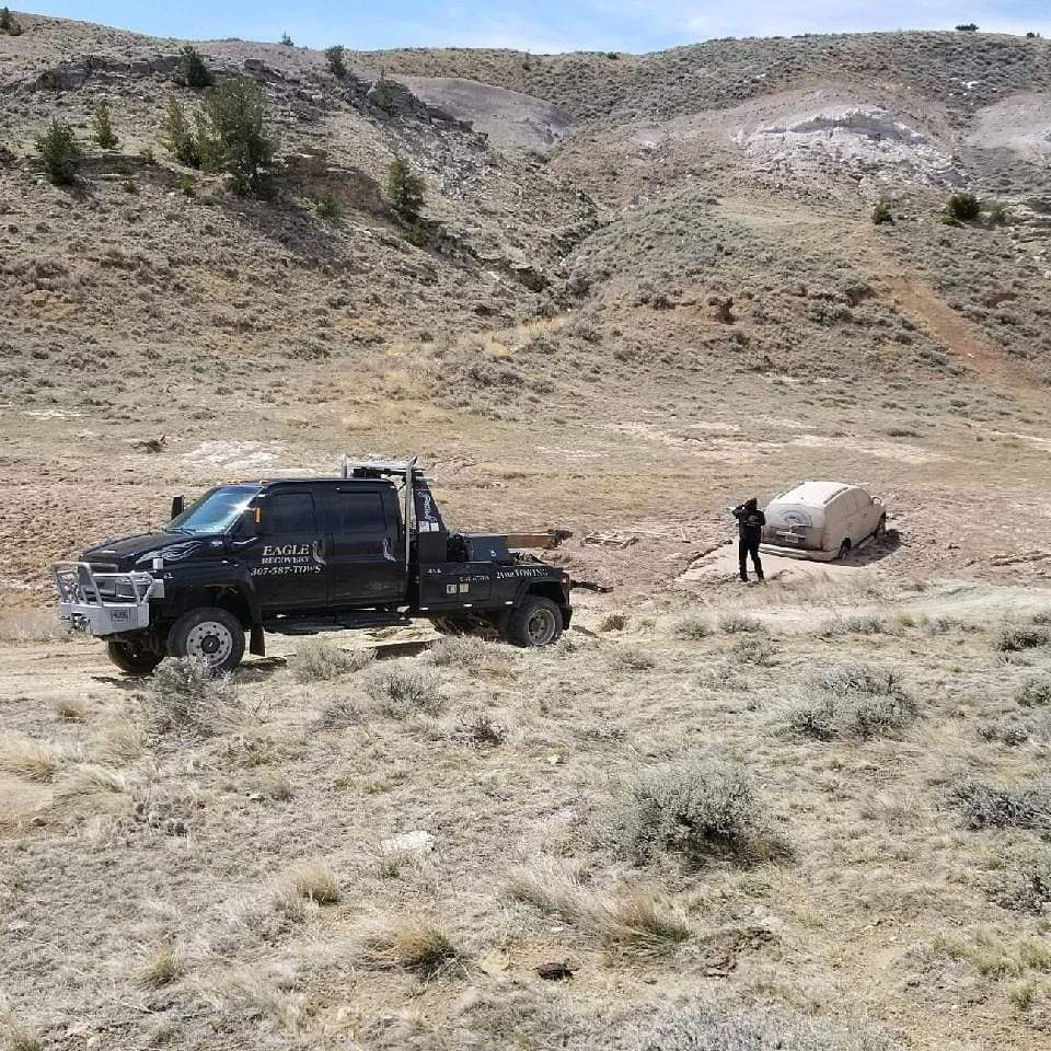 off road towing recovery in mountains